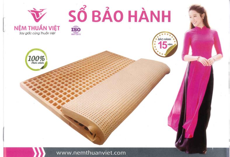 Sổ bảo hành nệm Thuần Việt